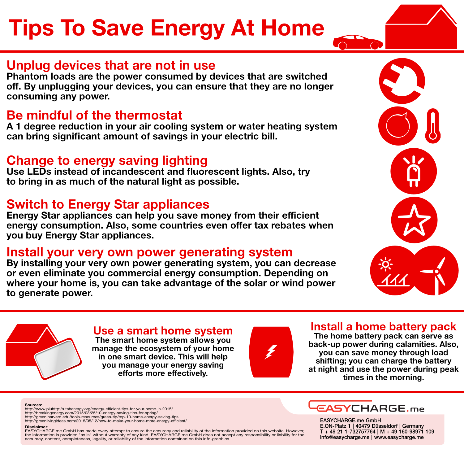 Weekly info-graphics: Tips to Save Energy at Home