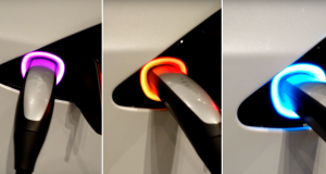 Tesla Easter Egg- Rainbow Charging Port
